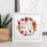 Cuadrito floral paper art 'No hay nadie como tú'