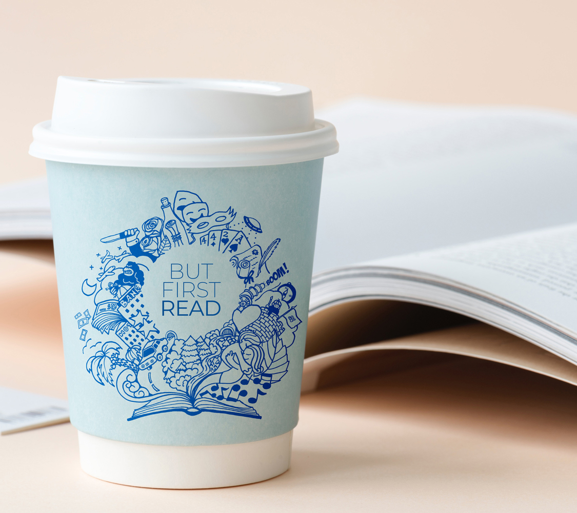 Diseño protector para taza para BUT FIRST READ